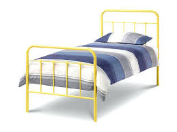 White Metal Bed Frame Single Single Iron Bed Frame Single Size Metal Bed Frame Collection