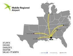Traffic Map Houston Mobile Airport U0027s U0027articulated Strategy U0027 Driving Air Traffic Gains