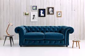 Fabric Chesterfield Sofa Bed Furniture Grey Fabric Chesterfield Sofa With Two Doors On Wooden