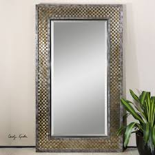 gold and silver home decor decor traditional rectangle uttermost mirror with gold and silver