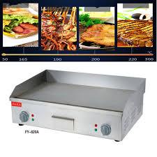 plaque de cuisine 110 v 220 v plaque de cuisson électrique commerciale en acier
