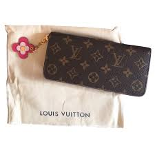 bloom wallet louis vuitton clemence wallet bloom wallets leather brown ref