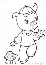 3 pigs colouring book games nursery rhyme colouring