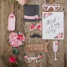 wedding photo booth props boho floral design wedding photo booth props kit by