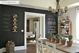 Dining Table Chandelier Eclectic Dining Room With Hardwood Floors U0026 Chalkboard Paint Wall