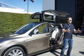 Tesla Minivan Gigaom The First Photos Of Tesla U0027s Electric Suv The Model X
