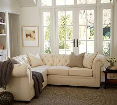 pottery barn chesterfield sofa chesterfield upholstered 3 piece l shaped sectional pottery barn