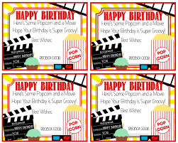 printable redbox code birthday card popcorn and