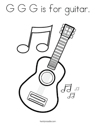 large guitar coloring page music notes coloring sheets treble clef is music note coloring page