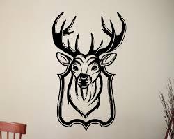 online get cheap wildlife wall murals aliexpress com alibaba group stag head special pattern wall murals home livingroom cool decor wildlife series art modern wall sticker
