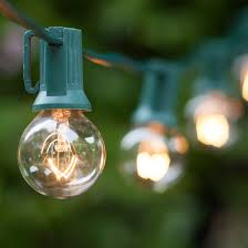 Clear Patio Lights Patio Lights Commercial Clear Globe String Lights 50 G30 E12