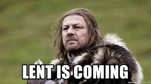 Stark Meme Generator - lent is coming concerned stark meme generator