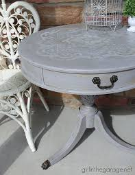 Distressed Table Stenciled Distressed Table Makeover Hometalk