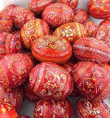 ukrainian egg and orange colors ukrainian pysanky wooden eggs set of 6 at