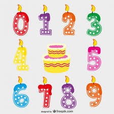 birthday candles vector free