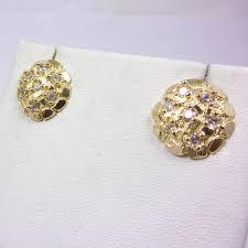 10k earrings solid 10k yellow gold large nugget stud earrings 2 5 grams