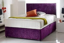 Divan Bed Set Crushed Velvet Divan Bed With Memory Foam Mattress Headboard