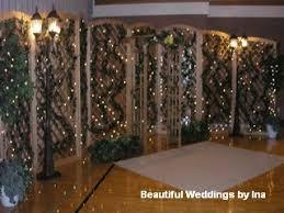 wedding backdrop lattice wood lattice beautiful weddings by ina