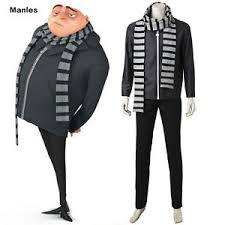 Gru Halloween Costume Movie Despicable 3 Gru Cosplay Minions Costume Halloween