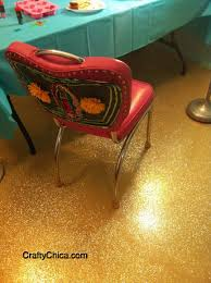diy glittered floor crafty chica