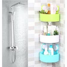 Suction Shelf Bathroom Cozy Corner Bathroom Organizer Corner Bath Caddy Rack Holder 4
