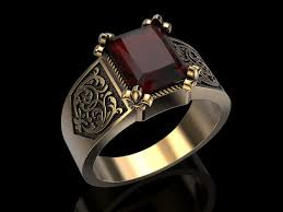 men ring jewellery 3d print model men ring cgtrader