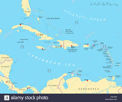 Map Of Virgin Islands Political Map Of The Caribbean Large And Lesser Antilles With