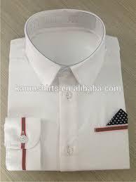 contrast collar cuff shirts for boys kids children dress shirt