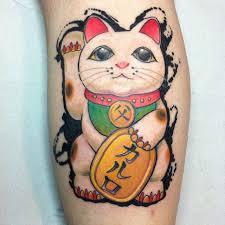 tattoo cat neko maneki neko tattoo eliseofranchini maneki neko pinterest