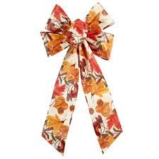 fall ribbon fall bows autumn bows harvest bows