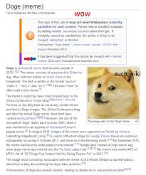 Doge Meme Pronunciation - doge the wikipedia page doge know your meme