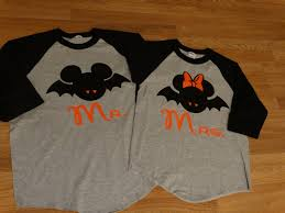halloween disney shirts free shipping disney inspired couples baseball tshirts