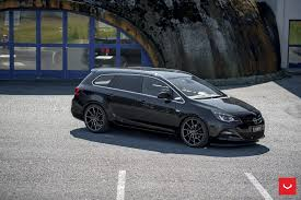 volkswagen wagon slammed opel astra j wagon doubles its value with vossen cvt wheels