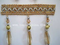 Decorative Trim For Curtains Trimming Golden Beaded Fringes Trim Decorative Trim By The
