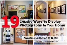 Creative Ways To Decorate Your Home 19 Creative Ways To Display Photographs In Your Home Diy
