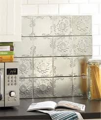 stick on backsplash for kitchen faux tin self adhesive backsplash tiles kitchen remodel ideas diy