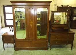 Edwardian Bedroom Furniture by Edwardian Inlaid Mahogany 3 Piece Bedroom Suite Comprising 2