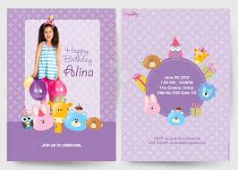 birthday invitation cards customised printed birthday