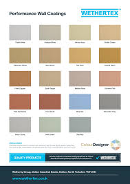 our wall coating colour chart never paint again