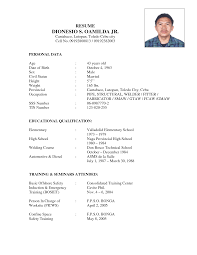 personal resume samples personal data in resume free resume example and writing download resume examples attended diesel mechanic resume template personal data educational qualification training seminars diesel