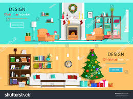 set colorful holiday interior design house stock vector 348300290