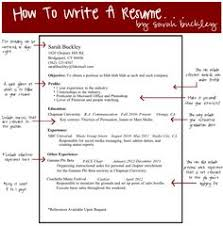 how to write a resum how to write a good resume career job search and college