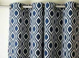 navy blue patterned curtains navy blue and white patterned