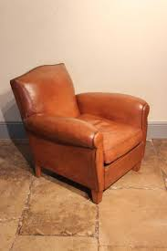 Vintage Leather Club Chair Chair Antique Club Chairs Furniture Vintage French Leather Pair Of
