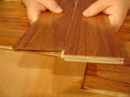 engineered flooring made of thin pieces of plywood
