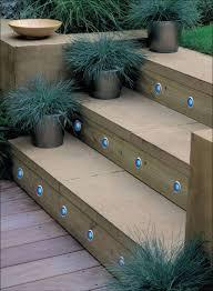 Wooden Solar Lights wooden outdoor stair lights led decoration outdoor stair lights