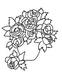coloring pages roses a vase coloring pages