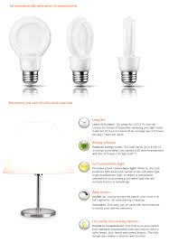 philips led light bulbs philips slimstyle 60w equivalent soft white 2700k a19 led light