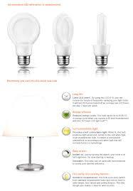 led light bulb wattage chart philips slimstyle 60w equivalent soft white 2700k a19 led light