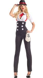 Gangster Costumes Halloween Drop Dead Heist Hottie Costume Mobster Halloween Costume